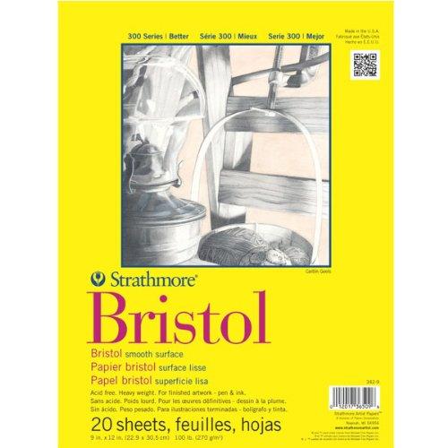 strathmore-artist-papers-300-series-carta-da-disegno-superficie-liscia-cartoncino-bristol-229-x-305-