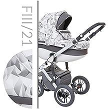 Baby Merc Faster III Carrito Cochecito 3en1+silla de coche
