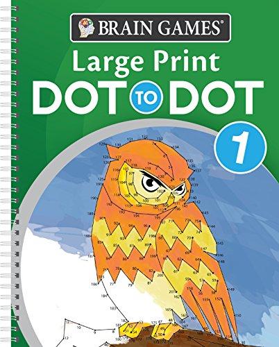 Brain Games Large Print Dot-To-Dot 1