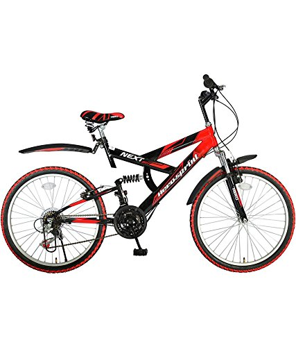 Hero Next 26T 18 Speed Carbon-Steel Sprint Bicycle, Kids 26-inch (Black/Red)
