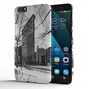 Koveru Designer Printed Protective Snap-On Durable Plastic Back Shell Case Cover for Huawei Honor 4X - The Empire State Building New York