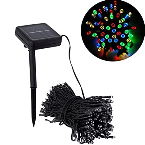 Bovake 10M 100 LED Solar Lamps String Christmas Wreaths Wedding Decoration Light (Multicolor)