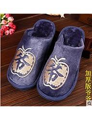 Coolers Hombre Azul Fairisle Botas Zapatilla De Punto EU 43-44