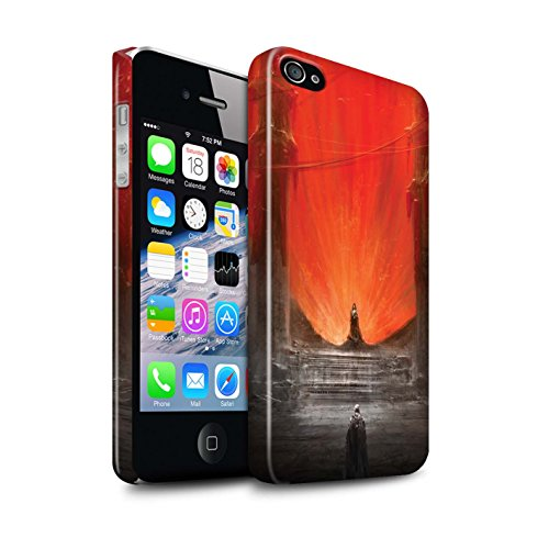 Offiziell Chris Cold Hülle / Glanz Snap-On Case für Apple iPhone 4/4S / Getarnte Teufel Muster / Dunkle Kunst Dämon Kollektion Hohe Königin