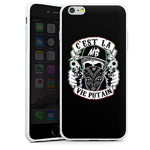 Apple iPhone X Silikon Hülle Case Schutzhülle Montanablack Fanartikel Merchandise C'EST LA VIE PUTAIN Silikon Case weiß