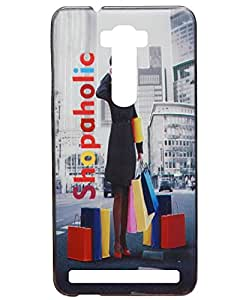 Jkobi Fashionable Printed Designed Hard Shell Back Cover For Asus Zenfone 2 Laser ZE550KL (5.5 Inch) -Shopaholic