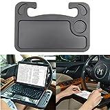 Coolper Auto LaptopTablett,Auto Schreibtisch, Esstisch aus Kunststoff für Lenkrad Beifahrersitz mit Getränkehalter