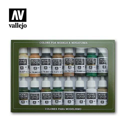 70109 VALLEJO MODEL COLOR SET 16 CO