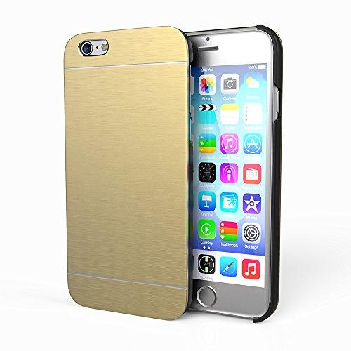 Esorio ® premium iPhone 6 coque de protection fine en aluminium pour 100 % -arrière-argent garantie or