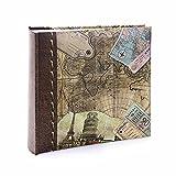 Kenro, HOL118, album fotografico collezione Holiday and Travel, motivo con antica mappa geografica del mondo, per 200foto,dimensioni 15,2x 10,2cm (l x h), 6 x 4'