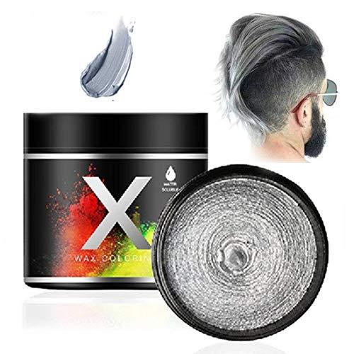 Haarfarbe Wachs, einmalige temporäre Modellierung Farbe Haarfärbemittel Wachs (Slivere Grau)