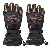 SHT Elektro-Handschuhe Outdoor-Ski-Reiten Aufladen Fünf Finger Heizen Warme Wasserdichte Winddichte Touchscreen-Handschuhe,Black
