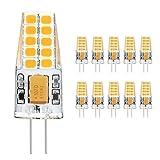 Ascher 10x G4 3W Lampadina LED (300LM, Pari a 30W), 20 LED SMD 2835 Risparmio Energetico Lampada sostituzione di,AC/DC 12V, Bianco Caldo immagine