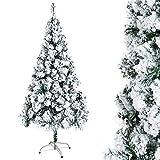OZAVO Albero di Natale Artificiale Innevato 120 cm,150 Rami,PVC Ago di Pino Effetto Realistico,Decorazione di Natale,Base Metallica