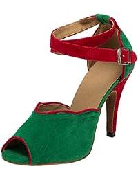 CFP Damen Tanzschuhe Grün Grün