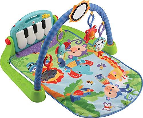 dschungel baby Fisher-Price BMH49 Rainforest Piano-Gym Spielbogen mit Musik und Licht inkl. Spielzeug grün Babyerstausstattung, ab 0 Monaten