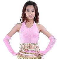 Danza del ventre Costume Set Bandage Bra Top&Sequins Bloomers