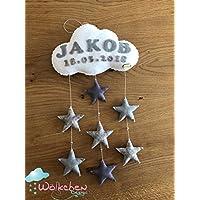 Mobile Wölkchen mit Sternen und Perlen