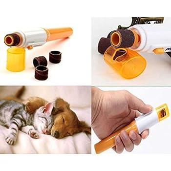 UEETEK Ponceuse à ongles pour animaux de compagnie électrique tondeuse tondeuse de toilettage pour chien chat lapin et petits animaux