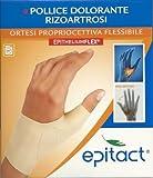 Epitact Ortesi propriocettiva flessibile - pollice dolorante rizoartrosi mano sinistra Taglia S da 13 a 14,9 cm
