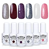 Perfect Summer 6pcs Multi Colour Gel Nail Polish Soak Off UV LED Manicure Varnish Nail Art Kits 8ml each #13