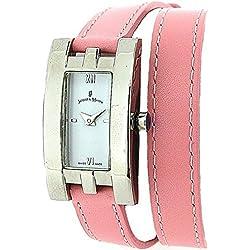 Jacques Du Manoir Ladies White Dial & Pink Extra Long Multi-Wrap Strap Watch