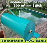 Schwimmteich PVC Folie Teichfolie 10 x 10 m 1,5 mm Blau Koiteich (9,98€/m²) Folie Teich Schwimmteich