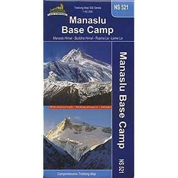 carte de randonnée NS 521 Tour du Manaslu et Camp de base