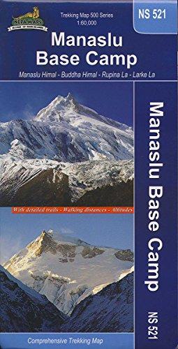 carte de randonnée NS 521 Tour du Manslu et Camp de base par Équipe de Himalayan Map House