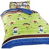 Football Friends - Juego de fundas nórdico/edredón cama individual para niños. (Cama de 90/Multicolor)