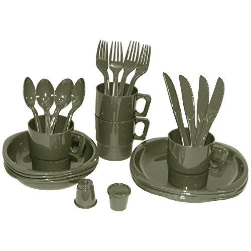 max-fuchs-camping-plastic-mess-kit-26-parts-od-green