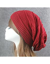 Qiaoba- Chapeau de tricotage chaud extérieur d'hiver de chandail