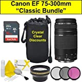 """Classic Bundle"" Canon EF 75-300mm f / 4.0-5.6 III Lens + Accessori Bundle"