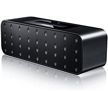 AOSO Altoparlante Bluetooth Wireless Stereo Portatile Con AUX-In/Carda di TF, 2x3W Driver, 10 Ore di Riproduzione Speaker con Microfono per Chiamate in Vivavoce con iPhone Samsung Smartphone, Nero