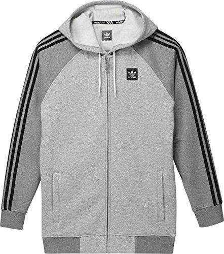 Adidas felpa con cappuccio AS Hood TRK Jkt Mgreyh/Corhtr