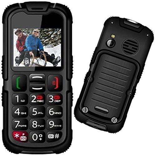 Mobiho-Essentiel le BAROUDEUR TOP 2 - Téléphone solide senior. Conviendra à un sénior qui veut un téléphone solide IP 67 et waterproof protégé contre les immersions dans l'eau - DEBLOQUE TOUT OPERATEUR.