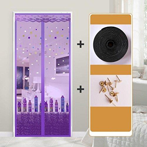 ZZ-aini Magnet Fliegenvorhang Bildschirmtür, Kinderleichte klebemontage Moskitonetz Nahtlose Automatisches Schließen Wohnzimmer Fliegengitter Tür insektenschutz-A 80x200cm(31x79inch)