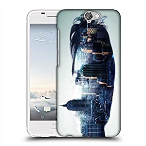 Snoogg city in a mans face 2604 Designer Protective Back Case Cover For HTC one A9