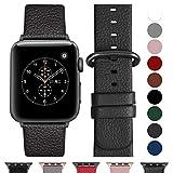 Fullmosa Ersatzband für Apple Watch Armband 42mm und 38mm, Echtes Leder Uhrenarmband für Iwatch Watch Series 3,2,1, Nike+ Hermes&Edition,Space Grau+Spacegrauschnalle 42mm