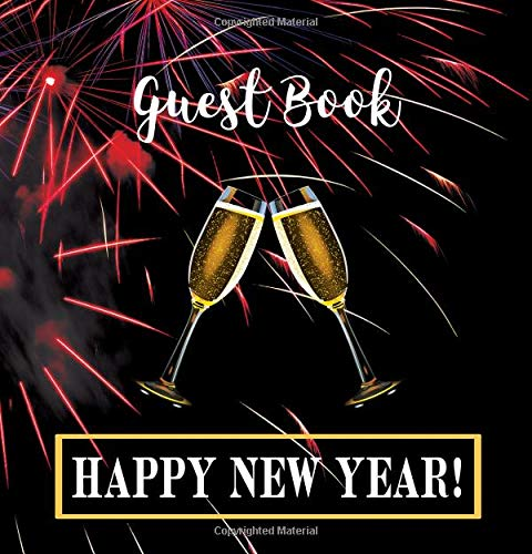 Party Guest Book HARDCOVER: Seasonal Party Guest Book for New Year's Eve: : Party Guest Book For NEW YEAR'S EVE