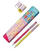 #9: Doms Y1+ Triangle 1 Pack - 10 Pencils - 1 Eraser + 1 Sharpner Free