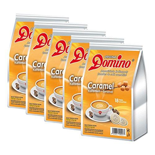 5x DOMINO Kaffeepads Karamell (á 18 Pads)