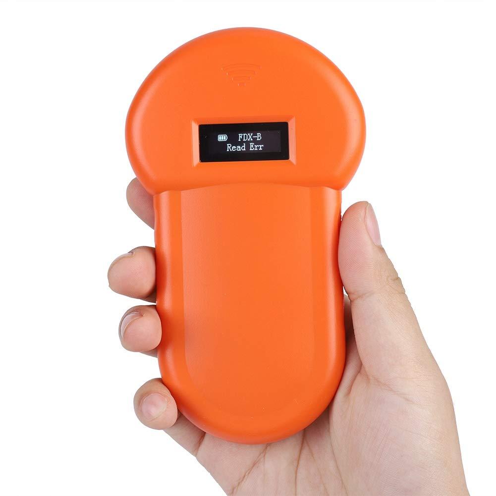 Lector para mascotas, lector de identificación de animales Pantalla LCD Pantalla táctil RFID Microchip Portátil Mascota Escáner 134.2 KHz