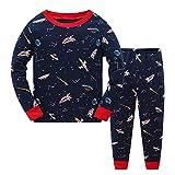 Tkiames Pyjama à Manches Longues pour garçon Motif Dinosaure - Beige - 18-24 Mois