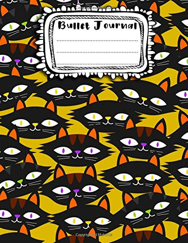 Bullet Journal: A4 - 156 pages - Halloween - Monstres rigolos - Fantomes - Citrouilles - Dot point, bullet journal, dot grid, planner, planning, organizer, journal, Fleurs, Bujo
