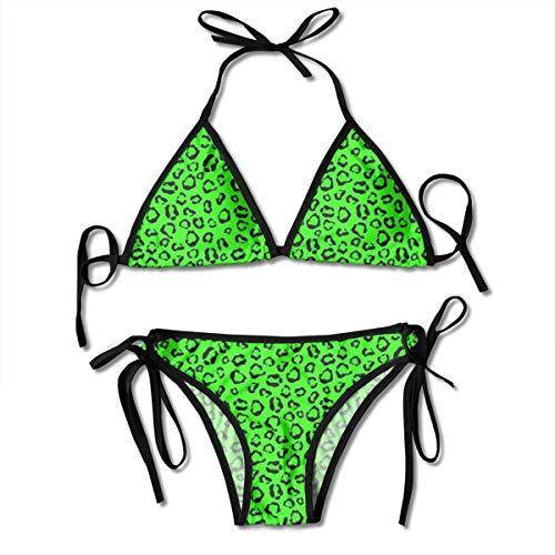 flys Neon Green Leopard_185 90% Nylon 10% Spandex Mit Brustschale Neon Green Leopard