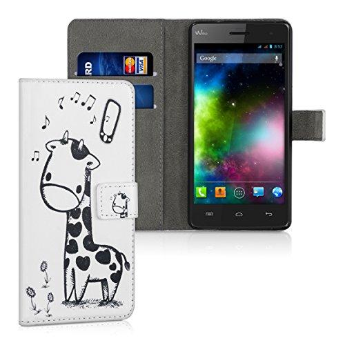 kwmobile Wiko Highway 3G / 4G Hülle - Kunstleder Wallet Case für Wiko Highway 3G / 4G mit Kartenfächern und Stand