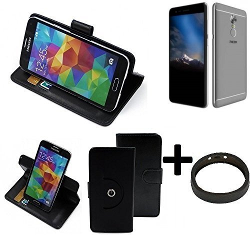 K-S-Trade® Hülle Schutzhülle Case für Phicomm Energy 4s + Bumper Handyhülle Flipcase Smartphone Cover Handy Schutz Tasche Walletcase schwarz (1x)