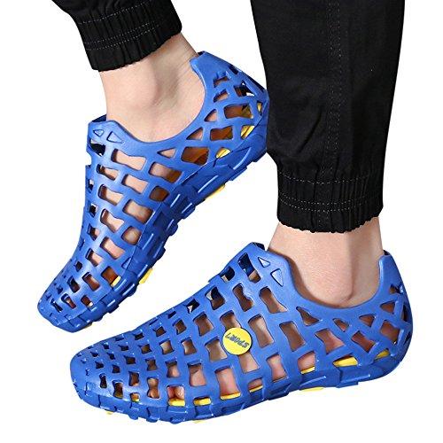 Moika uomini donne unisex classico casuale scarpe coppia spiaggia sandali infradito scarpe (260/43, blu)