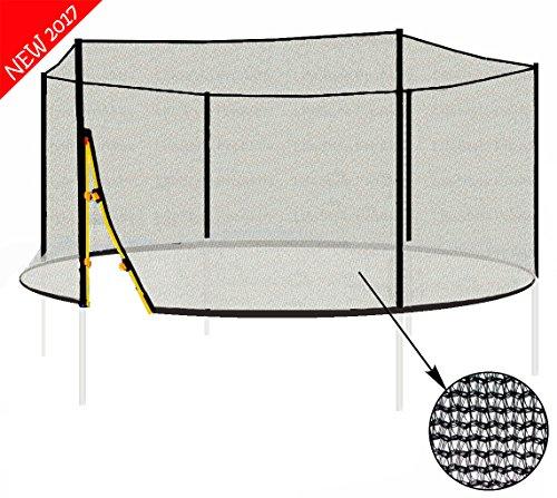 L-F-430 (A) LifeStyle ProAktiv 430cm Trampolin Sicherheitsnetz 140g/m² | Ersatznetz für 6 Stangen | UV-beständig | extrem reißfest | Netz außenliegend |